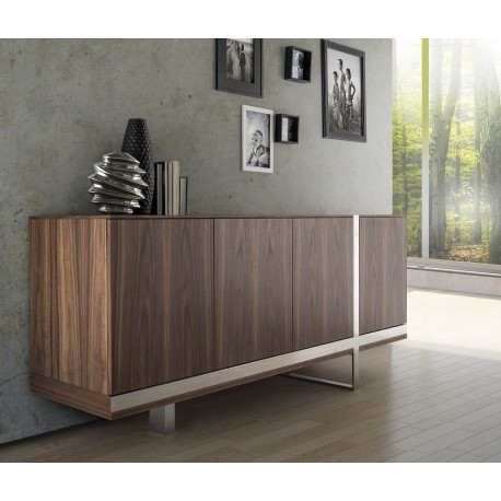 Oxa -luxury veneered sideboard with chrome