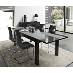 Oxa lacquer extendable dining table