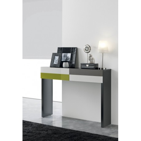 Tem -luxury console table with painted glass fronts