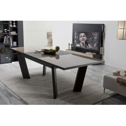 Rika extendable dinning table with glass top