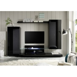 Lago- black modern wall set