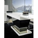 Teknica II -extendable lacquered table with lights