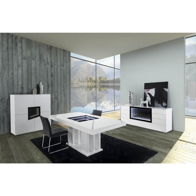 Teknica Ii Luxury Sideboard With Modern Lighting System Sideboards Sena Home Furniture