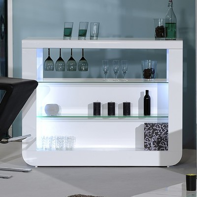 Modo Contemporary High Gloss Drinks Cabinet Display
