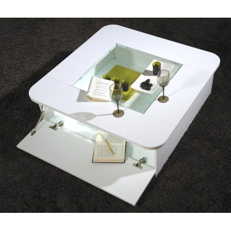 Modo - contemporary High gloss coffee table with optional LED lights