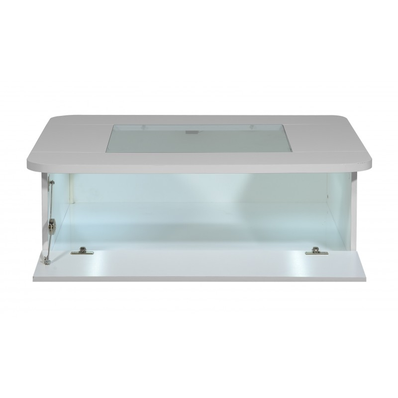 Floyd contemporary high gloss coffee table with optional led lights coffee tables sena Led coffee table