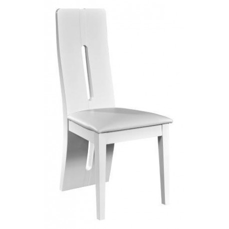 Floyd high gloss luxury dining chair chairs 1319 Chaise design blanche pied bois