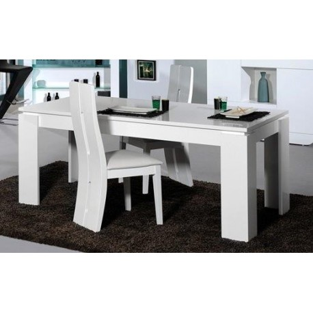 Modo -gloss extendable dining table