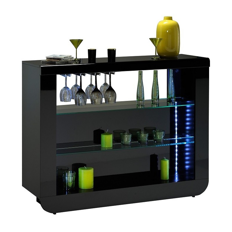 Floyd contemporary black gloss drinks cabinet display for Display home furniture