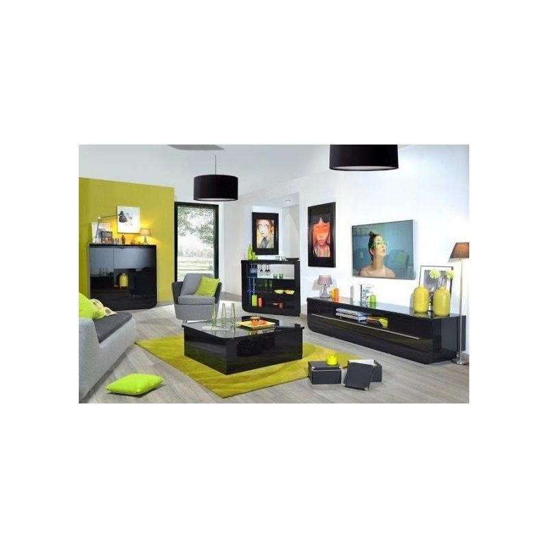 Modo contemporary black gloss drinks cabinet display for Display home furniture