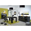 Modo -black gloss extendable dining table