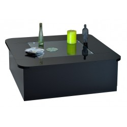 Modo - contemporary black gloss coffee table with optional LED lights
