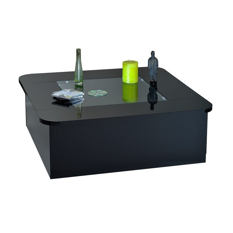Modo contemporary black gloss coffee table with optional led lights coffee tables sena Led coffee table