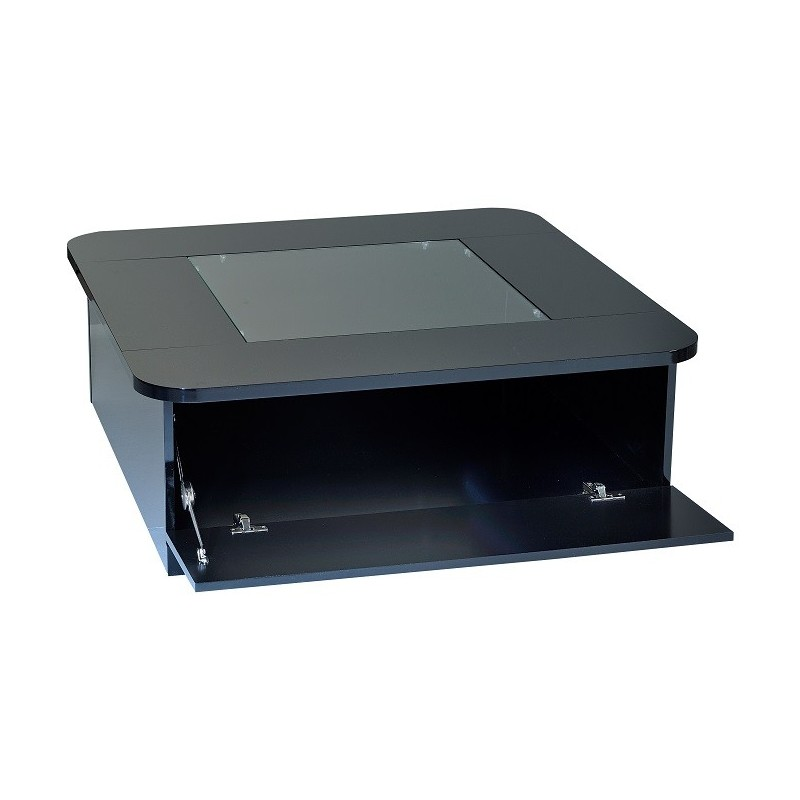 Floyd contemporary black gloss coffee table with optional led lights coffee tables sena Led coffee table