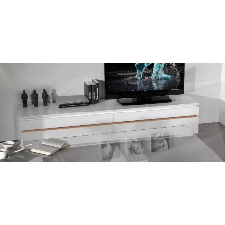 Orde - large TV stand in White Gloss