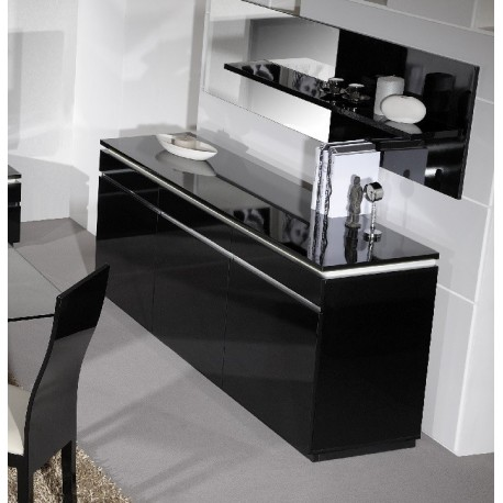 Orde Black High Gloss Sideboard With Lights