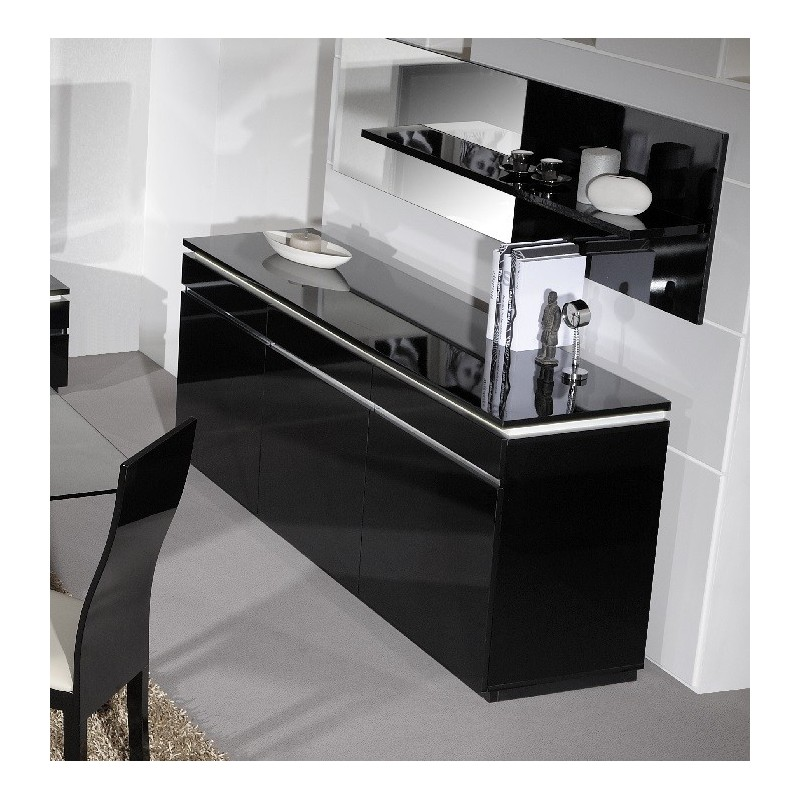 Electra Black High Gloss Sideboard With Lights
