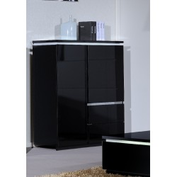 Orde - black wide highboard storage unit