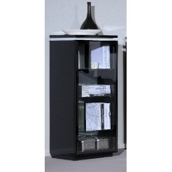 Orde -black glass display cabinet