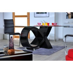 Orde - black high gloss dining table