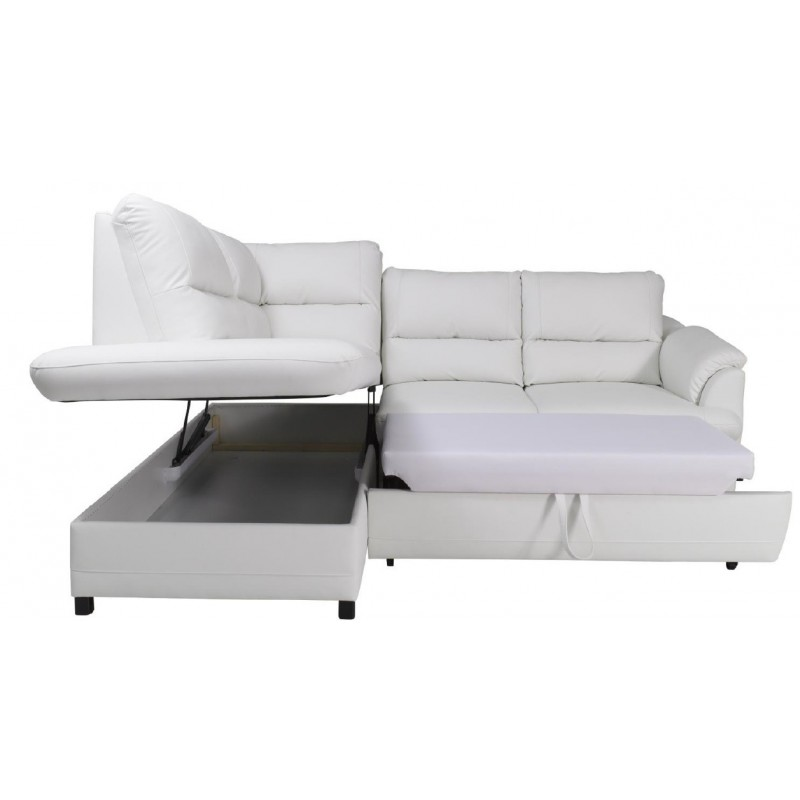Gustavo modern leather corner sofa bed sofas sena home for Leather corner sofa beds uk