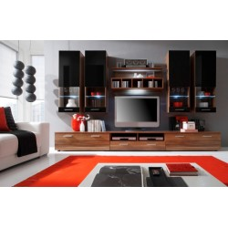 Dona wall set - oak & black