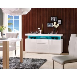 Amsterdam II - white sideboard with LED lights