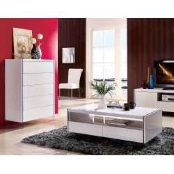 Lumio - lacquer chest of drawer with glass legs