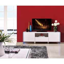 Lumio - lacquer TV Stand with glass legs