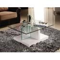 Milo - glass top coffee table