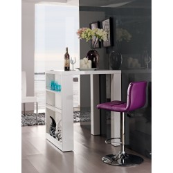 Avanti V- gloss  bar table with glass top