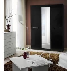 LASER II WARDROBE - double gloss doors and mirror