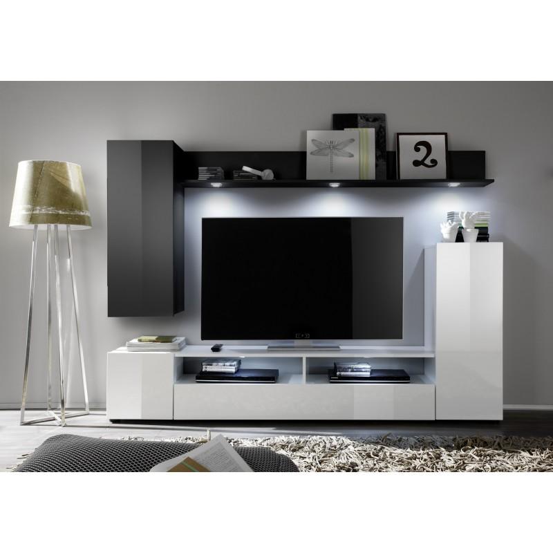 Modern Wall Lights Lounge : Dos IV - small wall set with led lights - Wall units - Sena Home Furniture