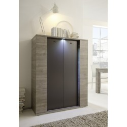 Palermo - 2 door highboard in oak and grey finish