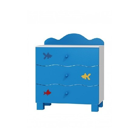 Boat - chest of 3 drawers