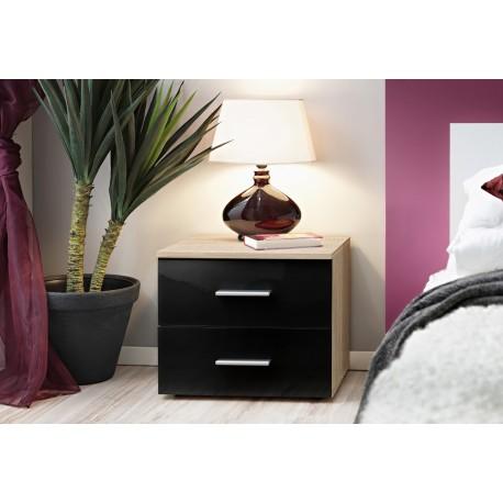Vicky- bedside cabinet with oak body