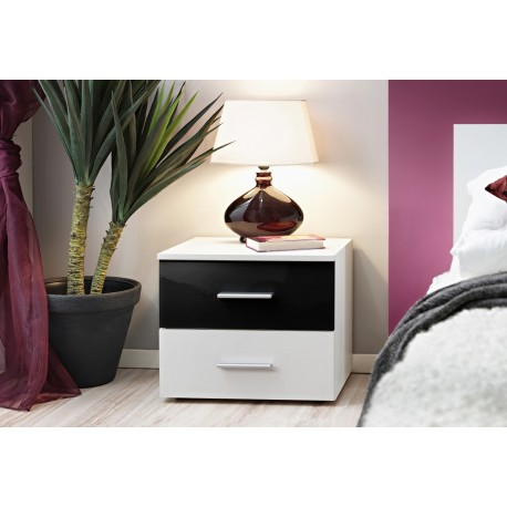Vicky- bedside cabinet with white body