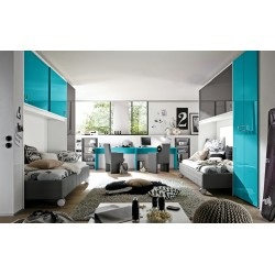 Ponte - gloss bedroom furniture set