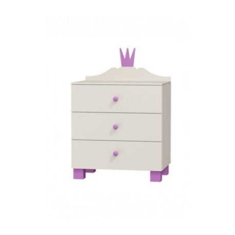 PRINCESS RANGE - Chest of 3 Drawers