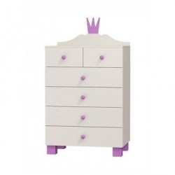 PRINCESS RANGE - Chest of 6 Drawers