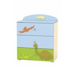 Dinosaur - chest of 3 Drawers