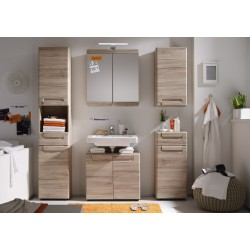Malea - Oak san remo finish bathroom set