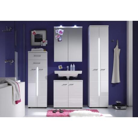 Nightlife - high gloss bathroom set with LED lighting
