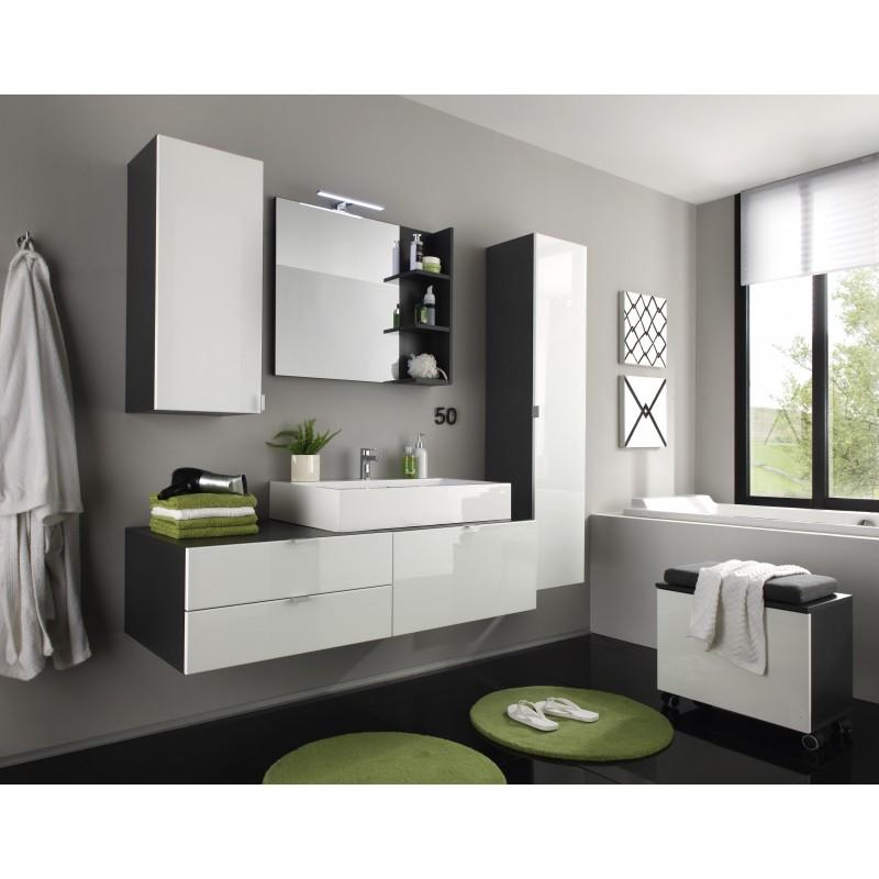 Wonderful Bathroom Furniture High Gloss White Laundry Storage Drawer Vanity Unit
