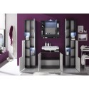 Ted - high gloss bathroom set with LED lighting
