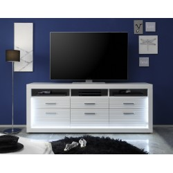 Iluminati I - large gloss TV unit with LED lights