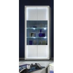 Iluminati I - wide gloss display cabinet with LED lights