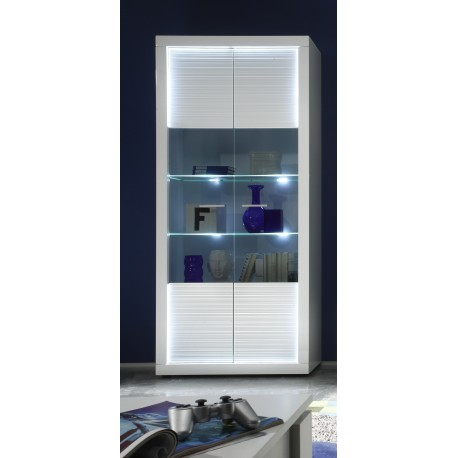 Iluminati I - wide gloss display cabinet with LED lights