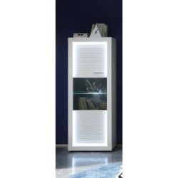 Iluminati III - narrow gloss display cabinet with LED lights