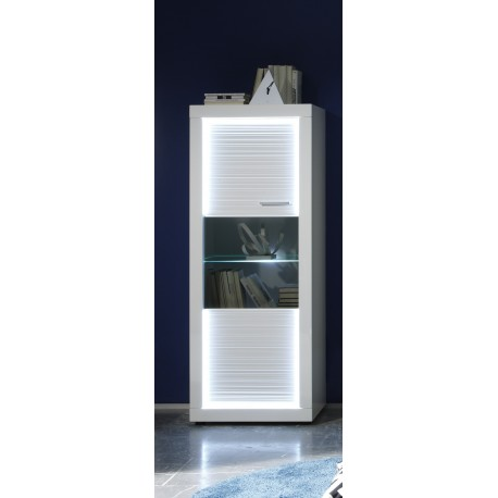 Iluminati III - narrow gloss display cabinet with LED lights